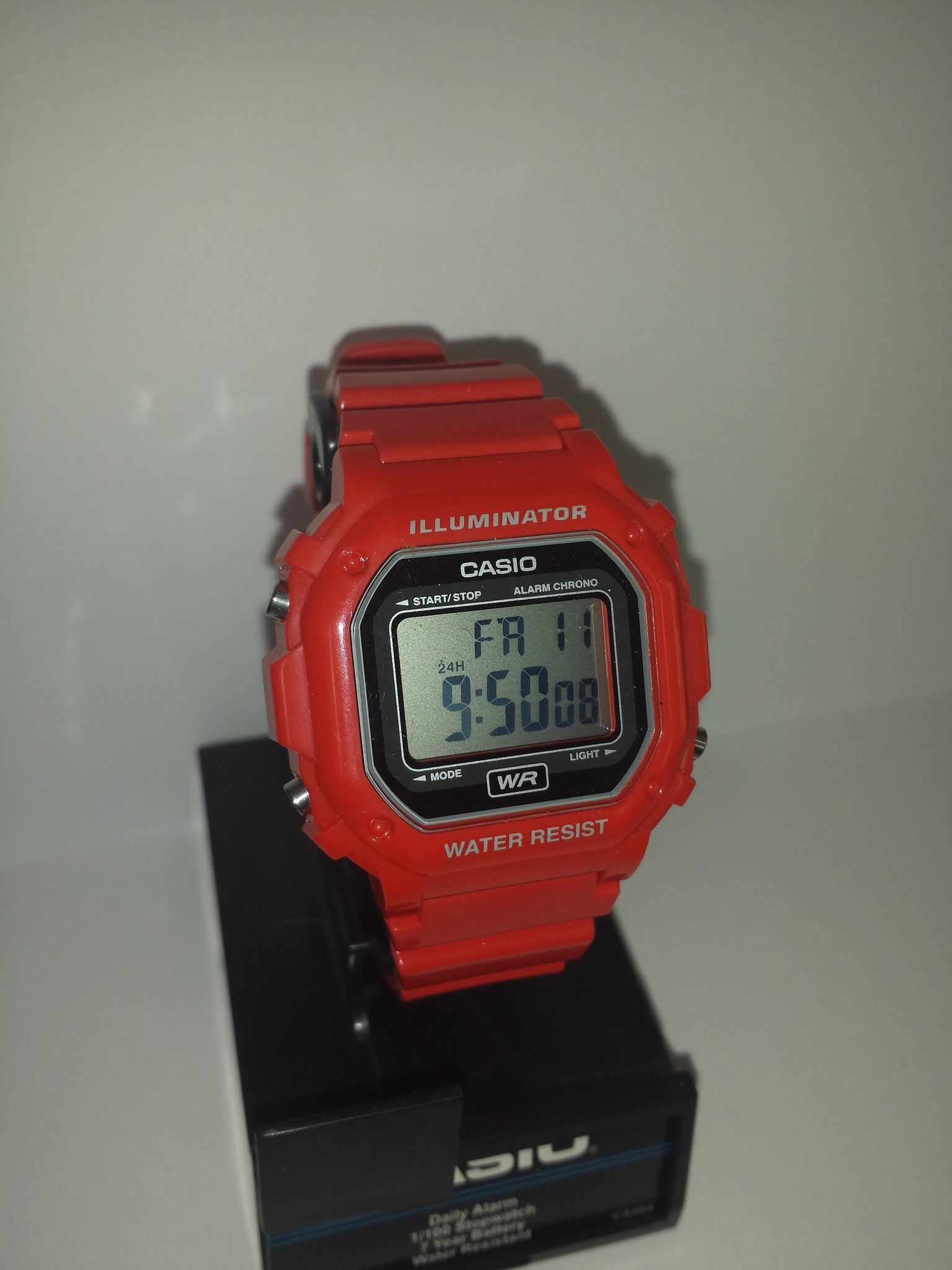 Orange Chronograph Alarm Casio Watch