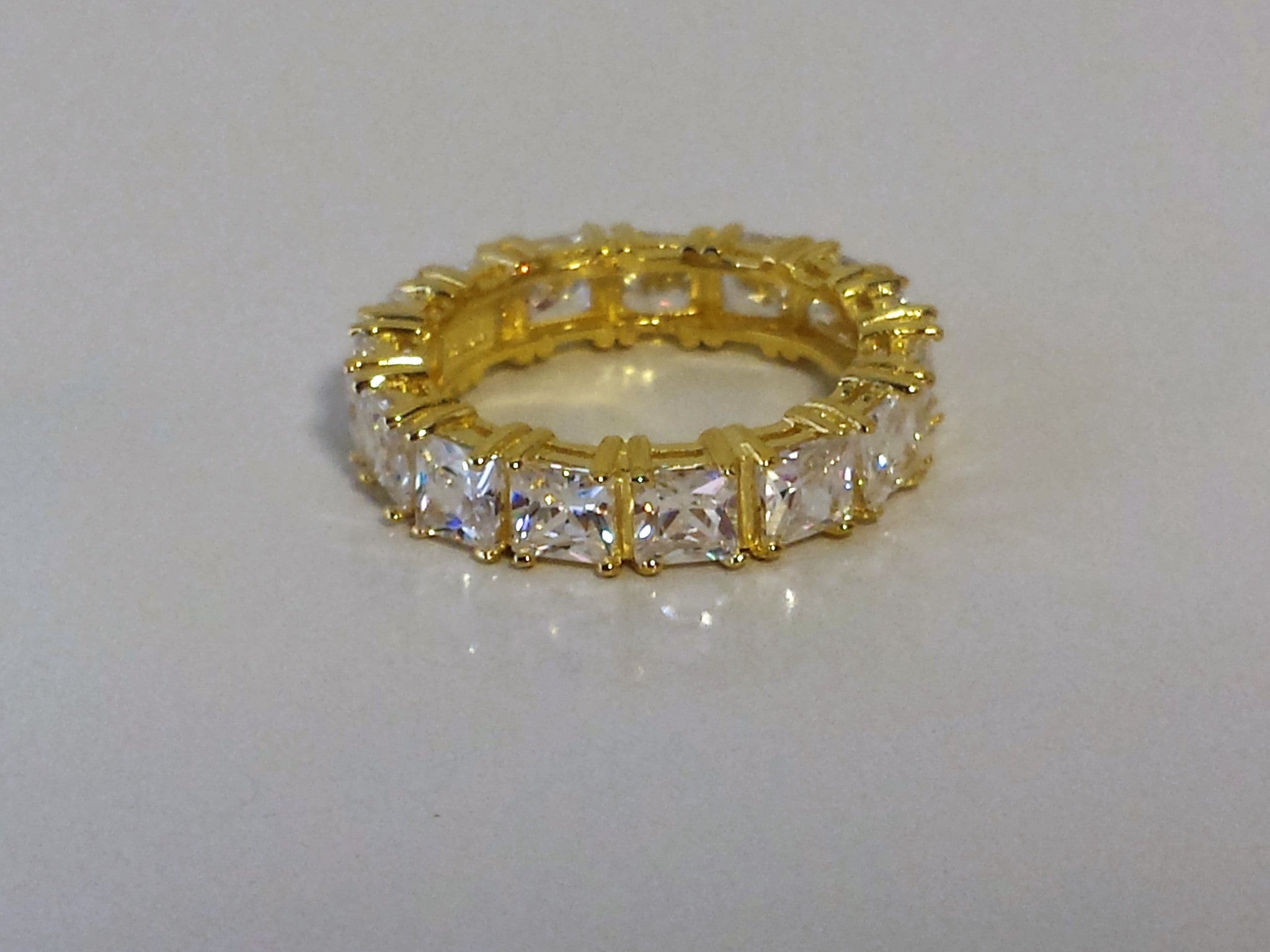 Gold Square Infinity Ring