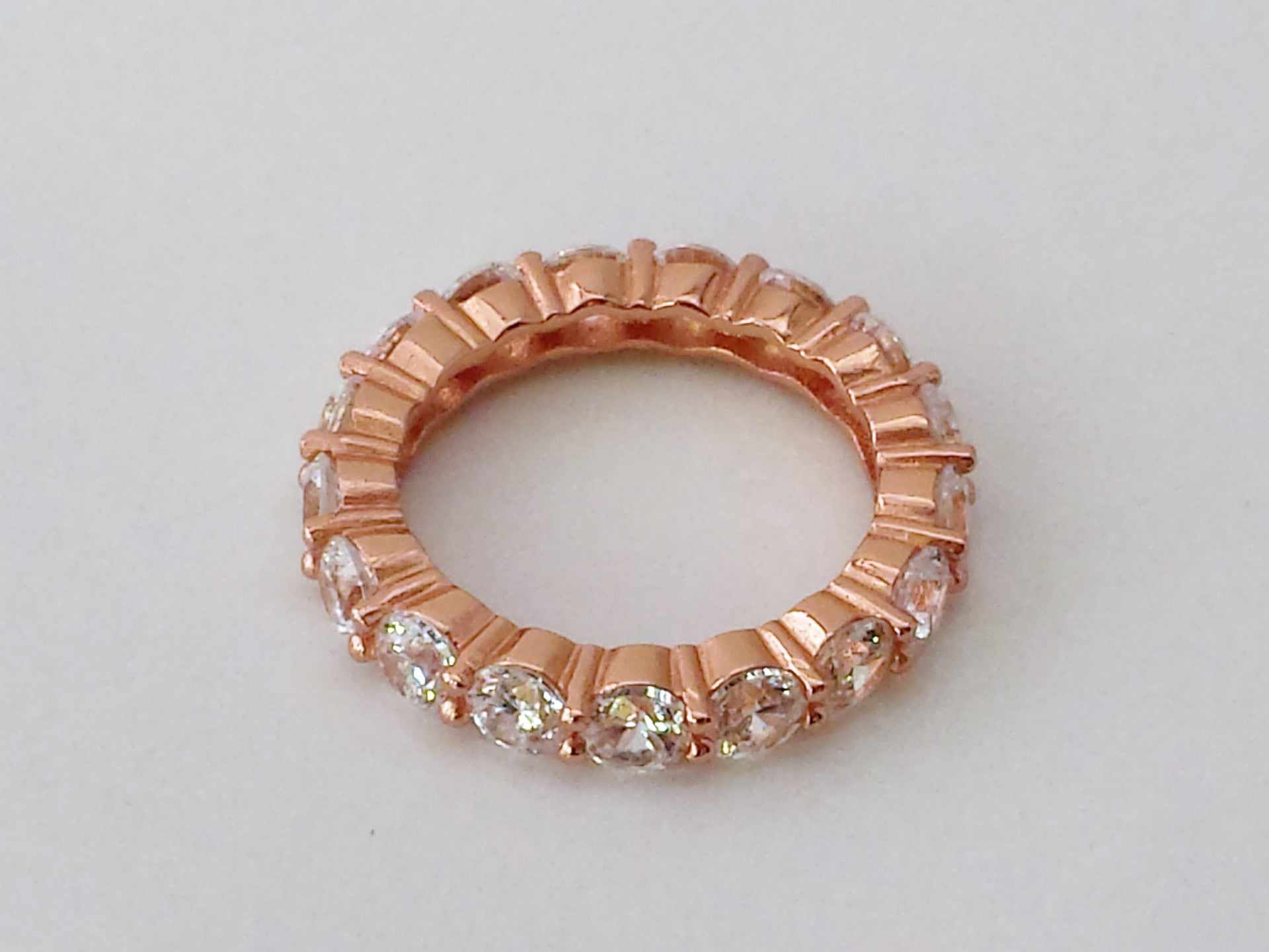 Rose Gold Iced Out Infinity Ring
