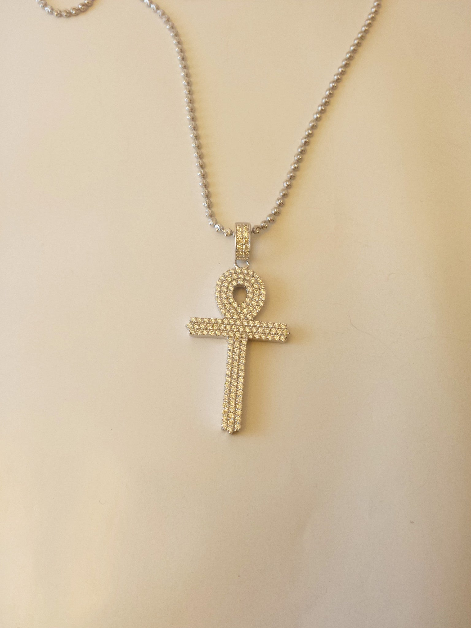 Super Iced Out Ankh Cross