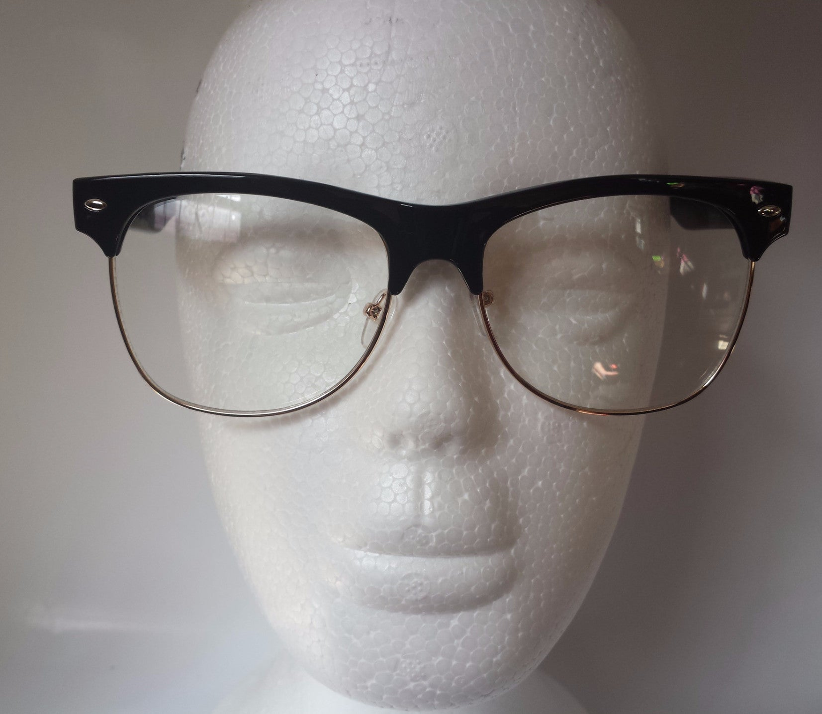 DatNew Malcolm X Clear Lens Sunglasses