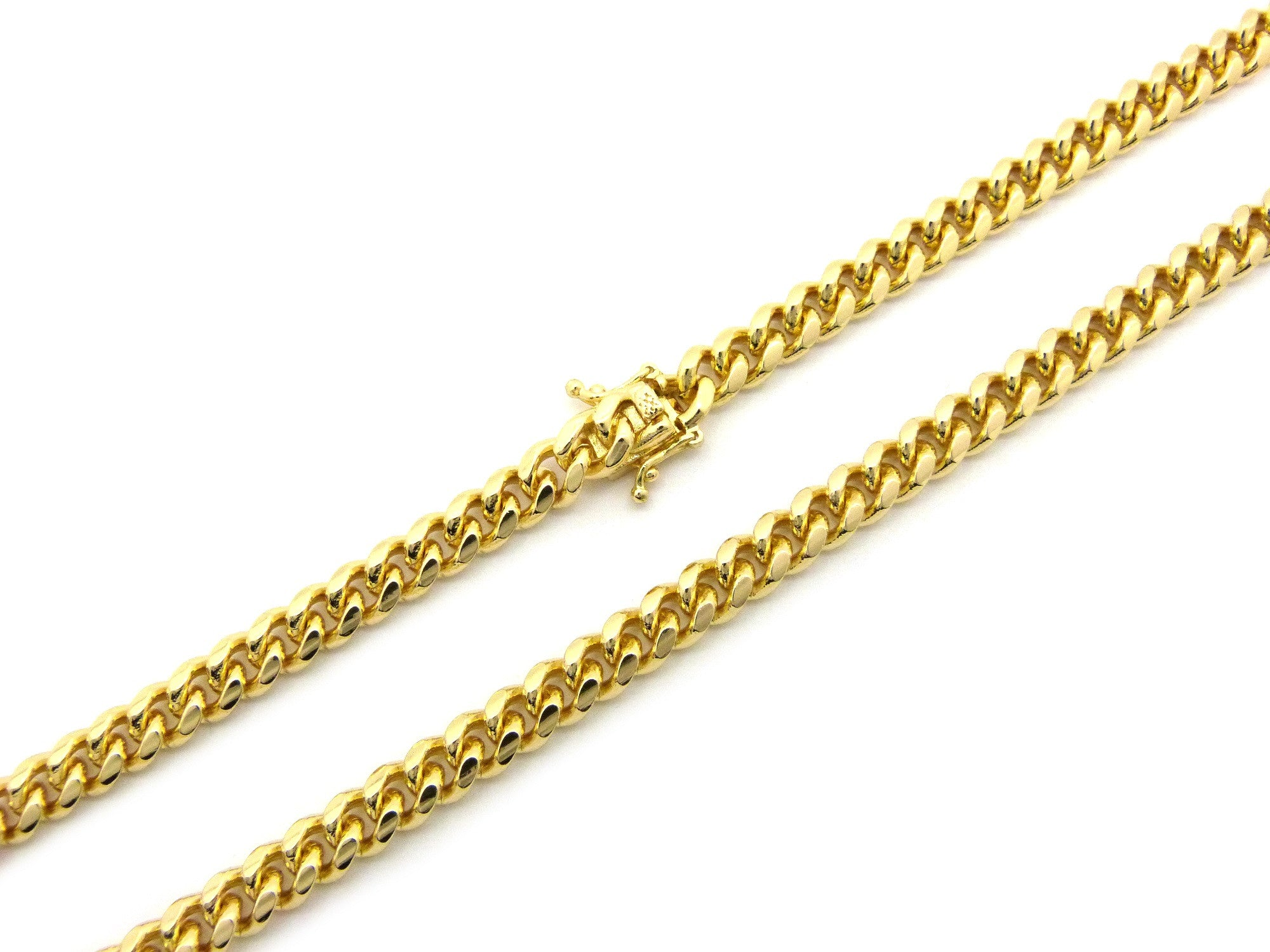 14k Gold Plated Miami Cuban With Box Clasp 30 Inches