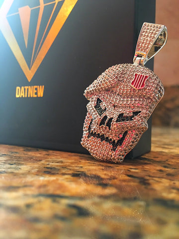 14k Icey Commando Skull Necklace