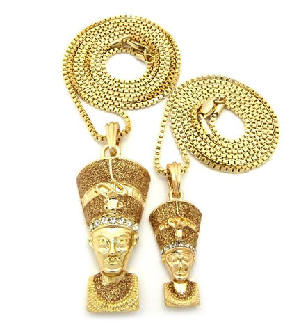 2 Chain Set: Big Pharaoh Lil Pharaoh On 24 And 30 Inch Box Chain