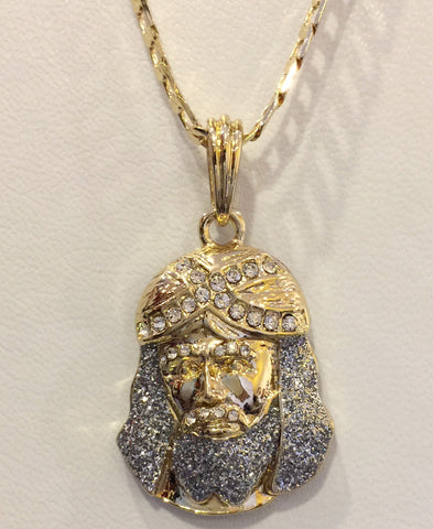 Iced Out Jesus With Blue Beard