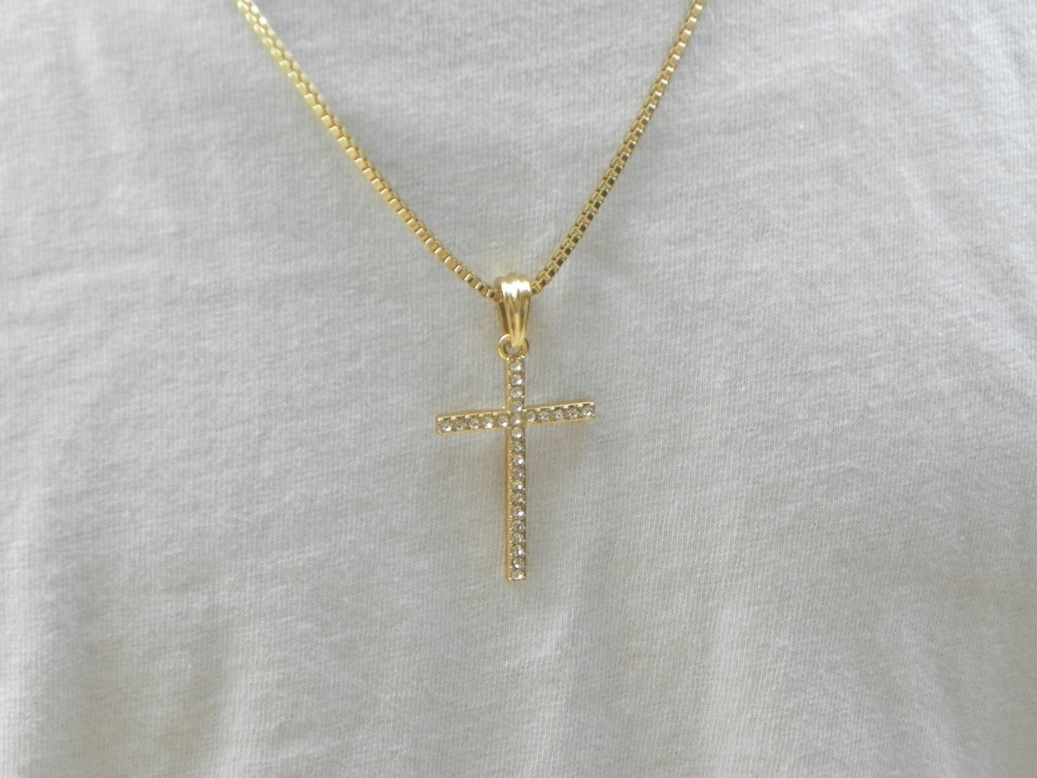 Iced Out Skinny Cross