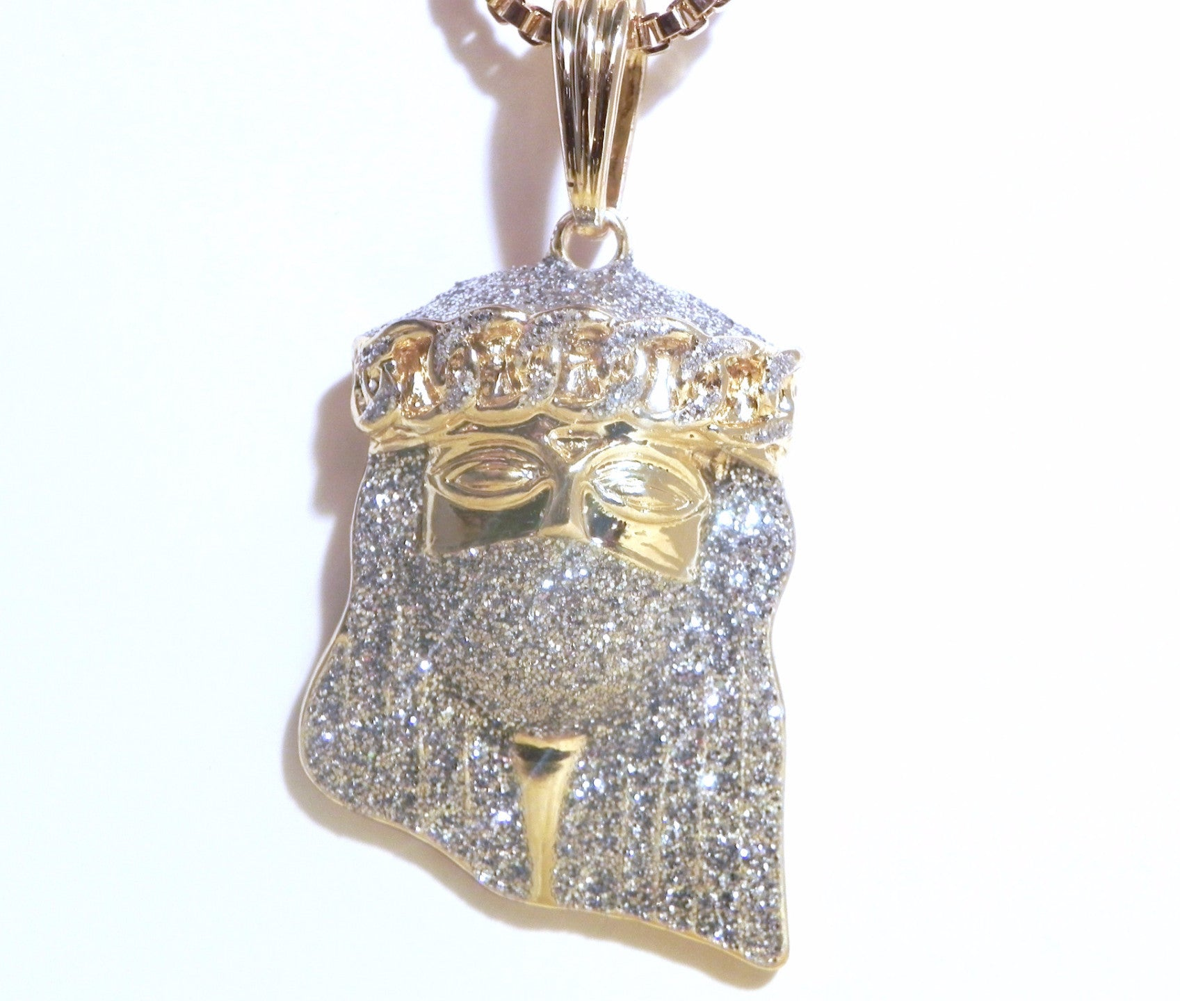 Gold Plated Jesus Piece With Icy Mask