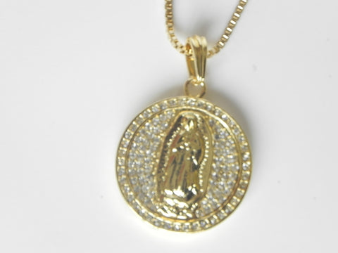 14K Gold Plated Fully Iced Out Mary