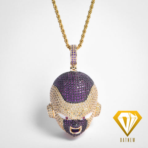 18K Gold Iced Out Golden Frieza Necklace