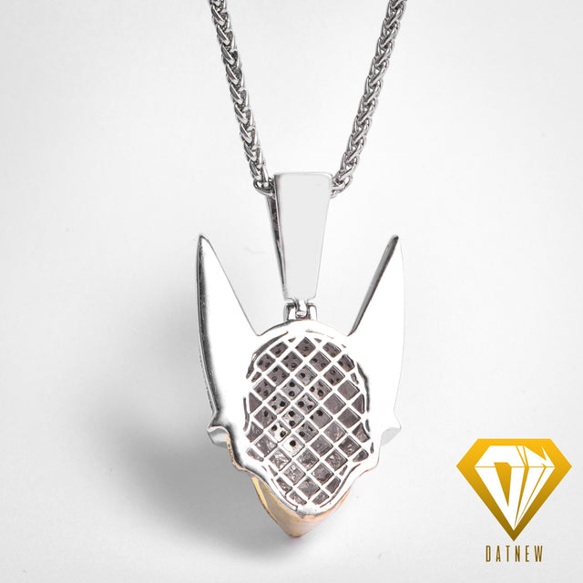 18K Gold Iced Out Cell Necklace