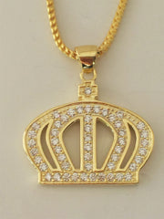 Gold Iced Out King's Crown