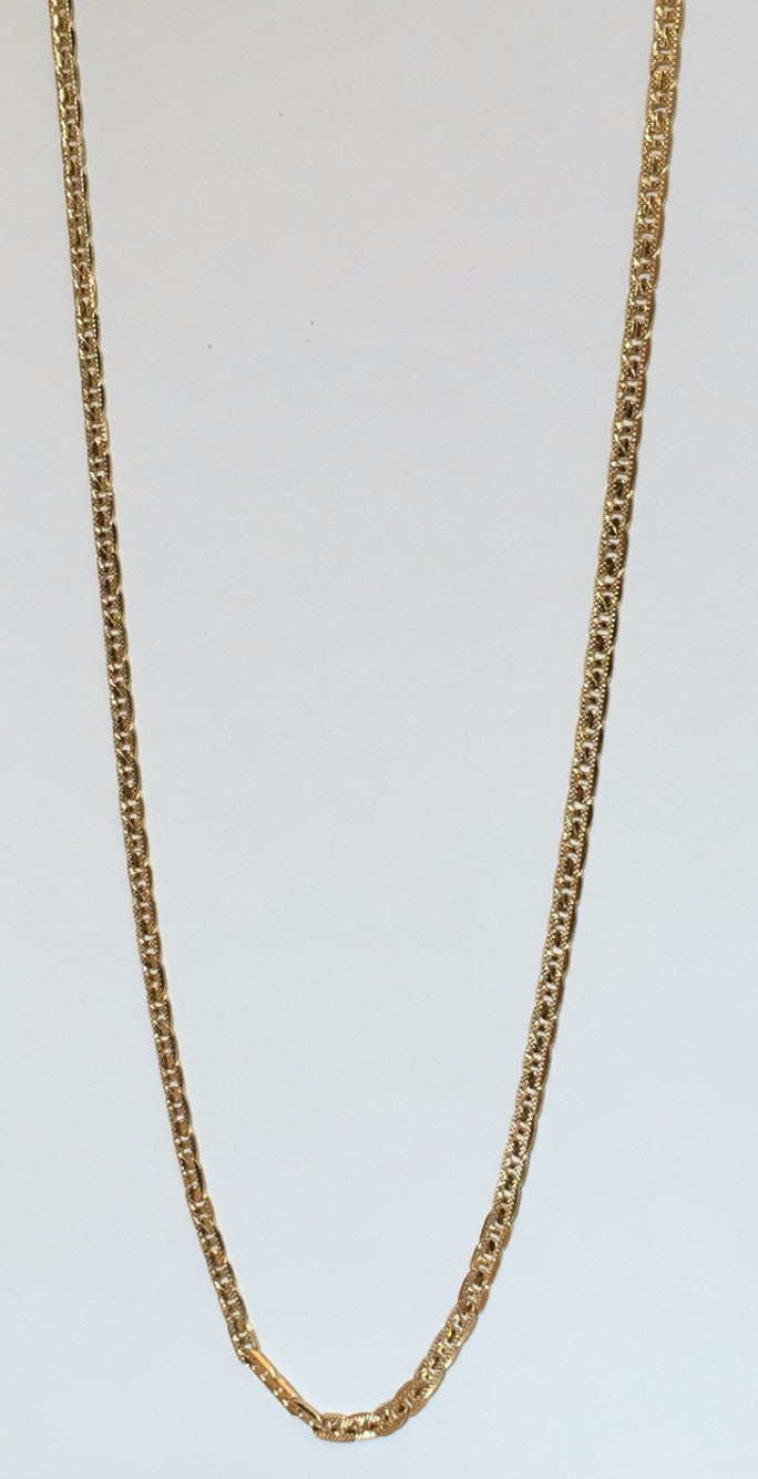 14K Gold Plated Gucci Link Chain 24 inch