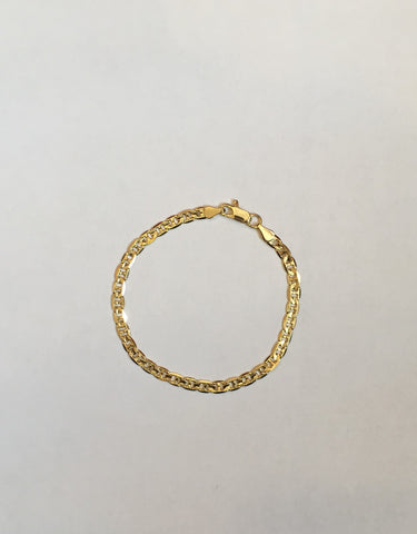 14K Gold Plated Gucci Link Bracelet