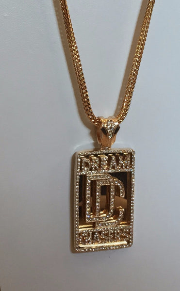 14k Gold Plated Dream Chaser Pendant On 34inch Franco