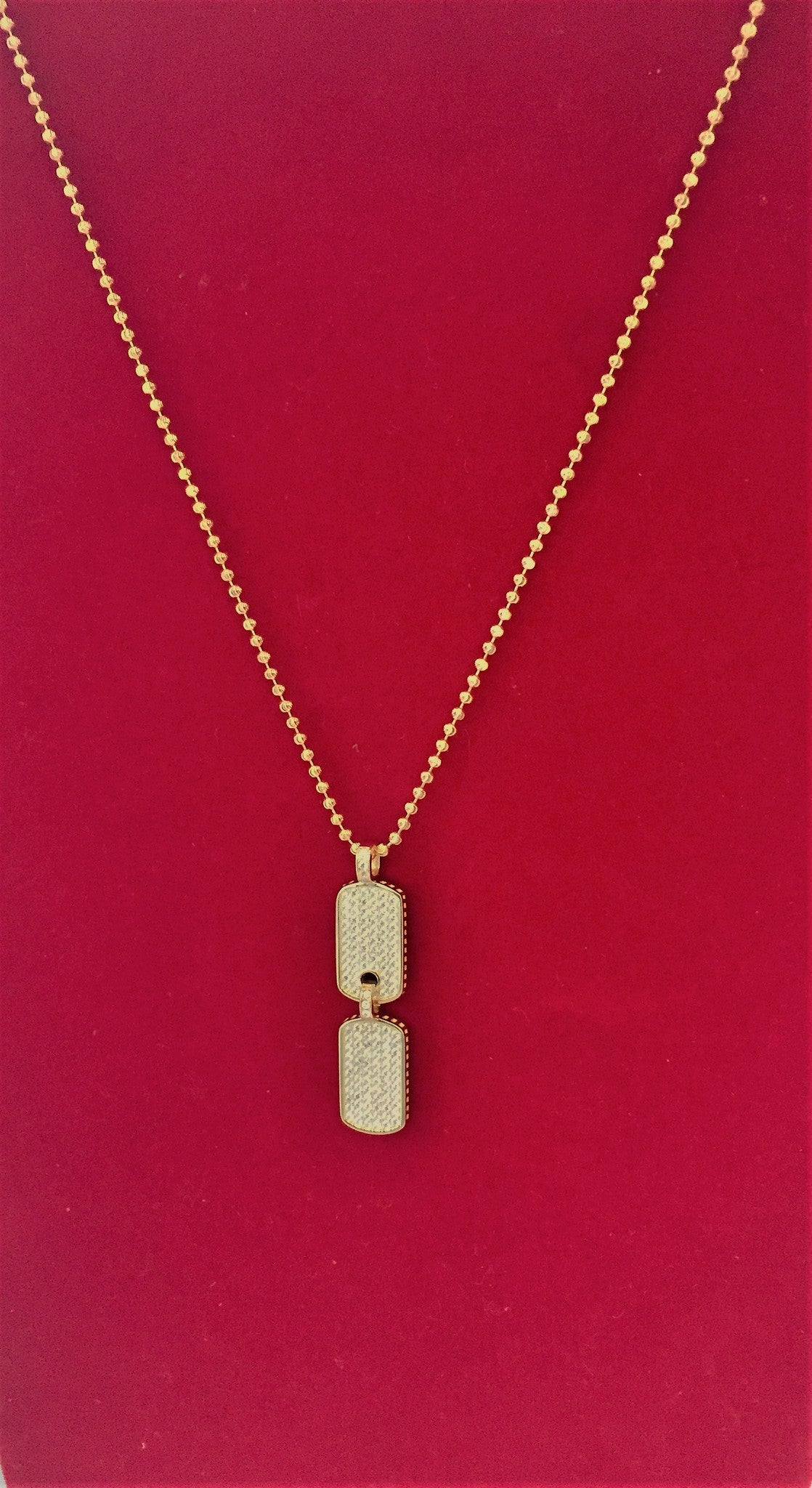 18kGold Army Tag Pendant