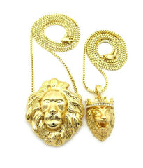 14k Gold Plated King Leo And Big Lion
