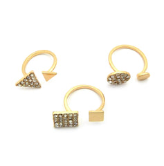 3 Ring Iced Out Geometry set