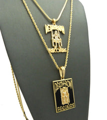 Gold Plated Death Row Records Pendant