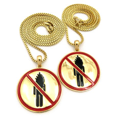 2 Chain Set: Fire Man Pendant