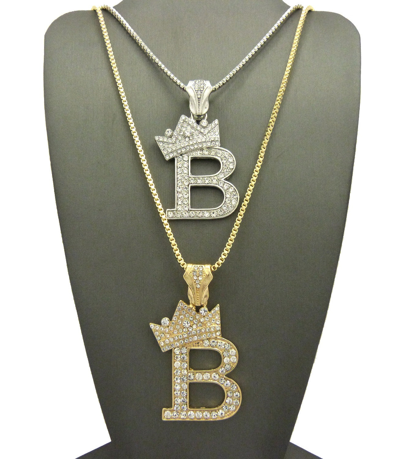 2 Chain Combo Yellow King B Silver King B 24 and 30 Inch Box Chain