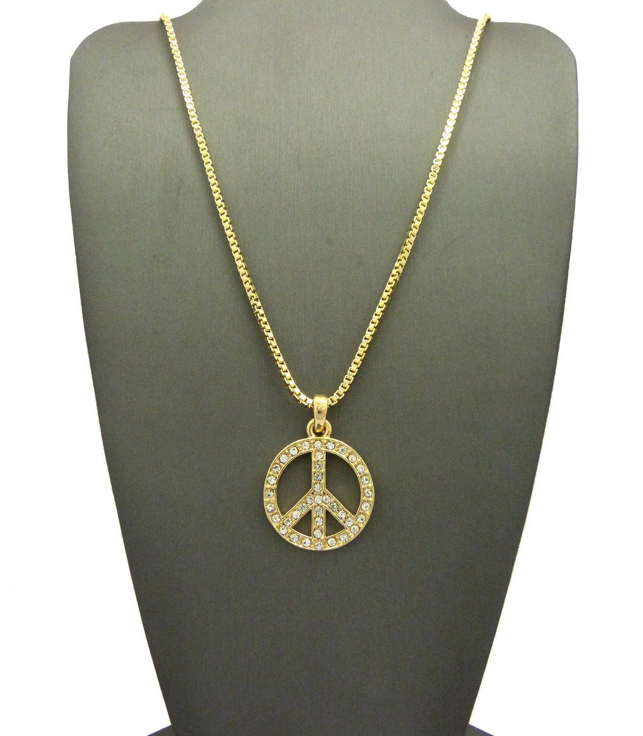 14k Gold Plated Peace Pendant
