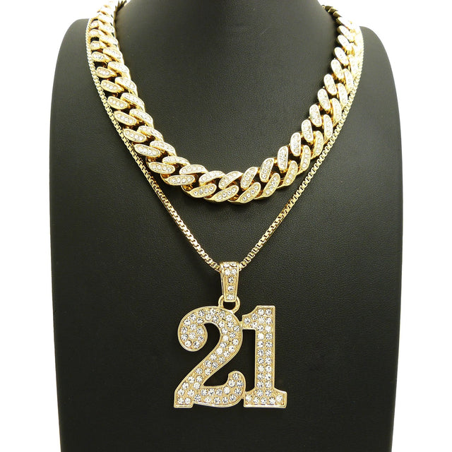 14K Icey 18 Inch Miami Cuban Choker 21 Savage Necklace