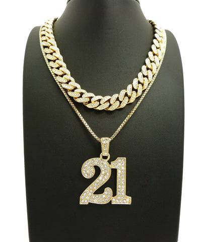 Hip hop chains datnewice 14k iced out 18 inch miami cuban choker 21 savage necklace aloadofball Images