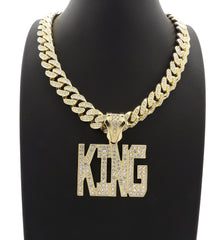 14K Icey King Pendant On Miami Cuban