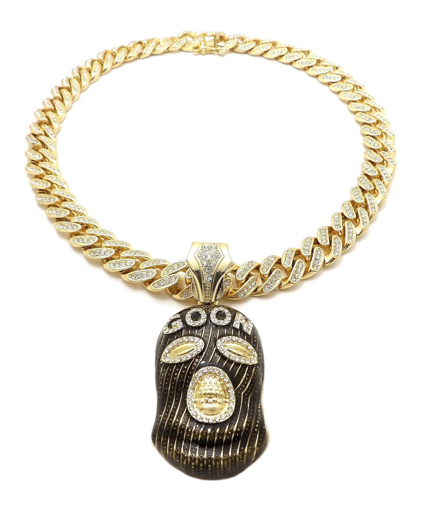 14k Iced Out Good Pendant On 24 Inch Miami Cuban