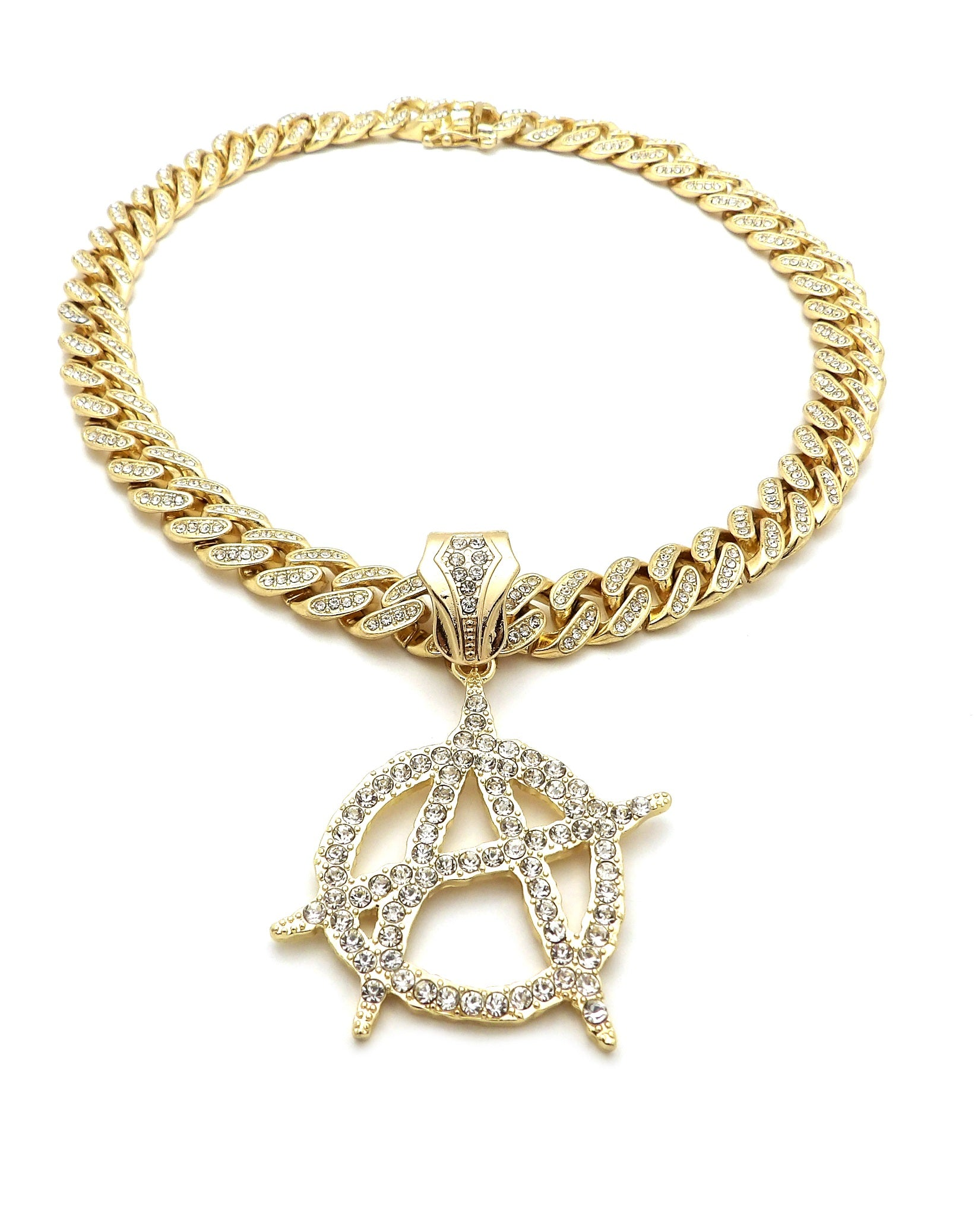 14K Icey Circle A On Miami Cuban Necklace