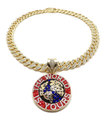 14K The World Is Yours Necklace On Miami Cuban