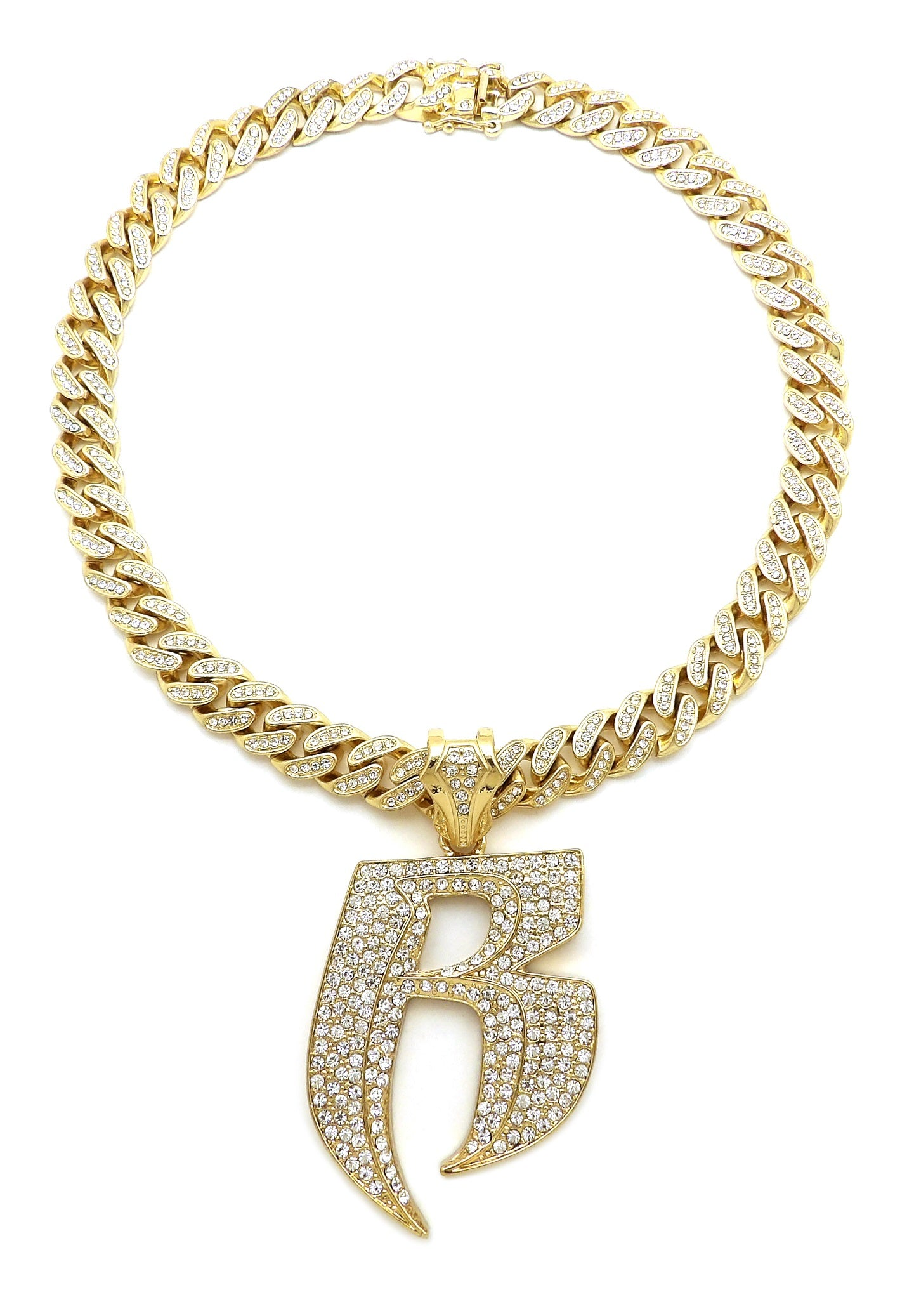 14K Iced Out Ruff Ryders Neklace On Miami Cuban