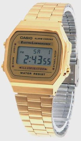 Men's Vintage Gold Metal Band Illuminator Chronograph Alarm Casio  Watch