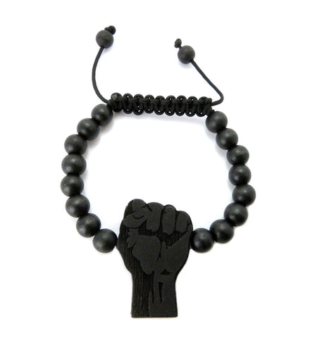 Black Power Beaded Bracelet