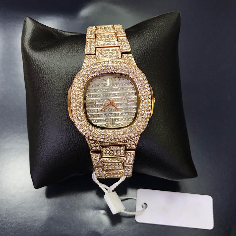 Iced Out 18K Gold Plated Drippy Watch Unisex
