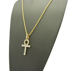 Iced Out Ankh Cross
