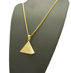 14k Gold Plated Eye Of Anubis Pyramid