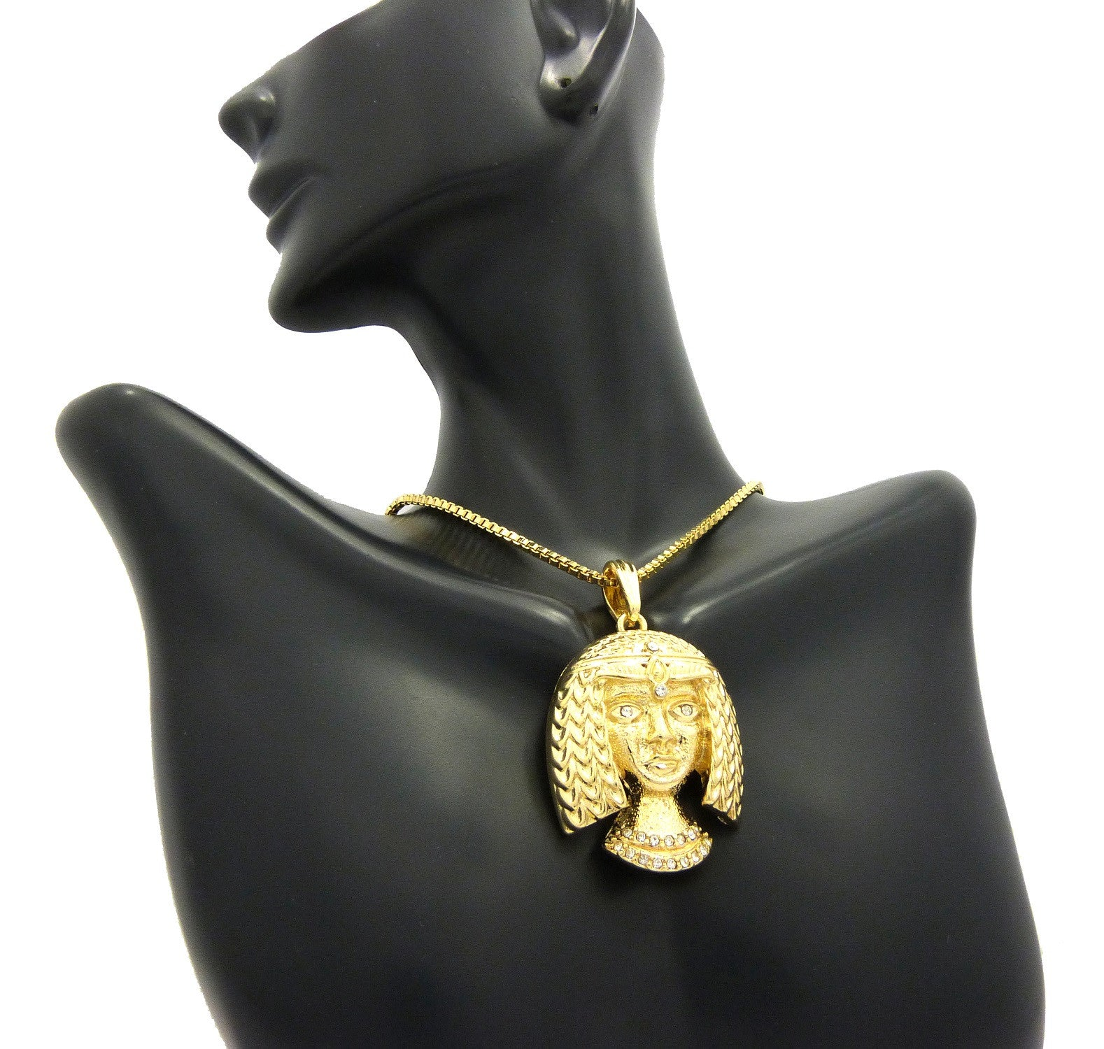 14k Gold Plated Cleopatra Head