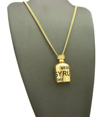 "14k Gold Plated ""Medical Syrup"" Chain"