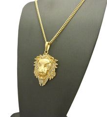 14k Gold Plated Iced Out King Kabar Lion