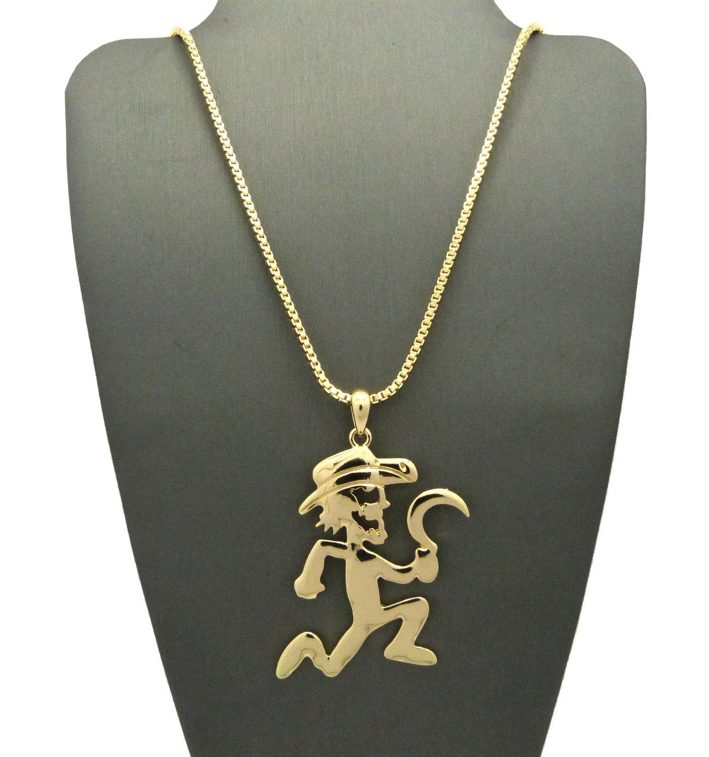 Gold Plated Reaper On 24inch Box Chain