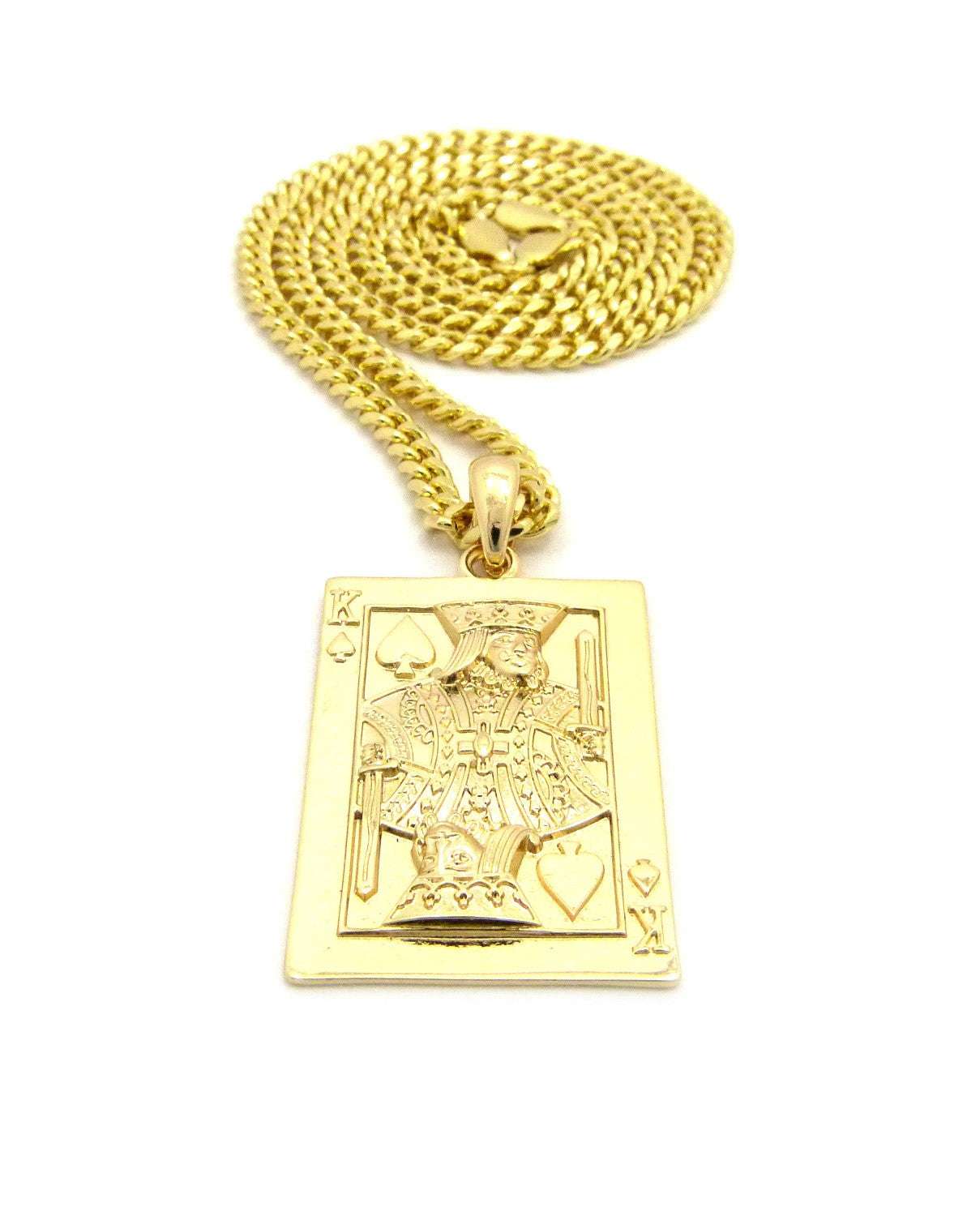 King Me Card On 24 Inch Cuban Chain