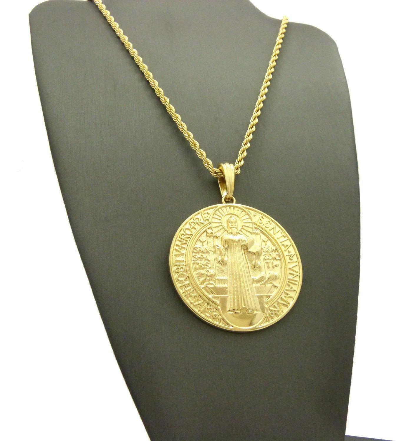 necklace on gold medallion chain nightline layered pendants wearuniquely chains chunk pin