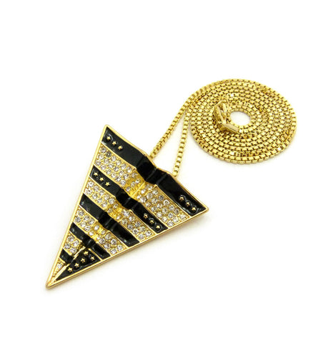14K Gold Plated Paper Plan Pendent