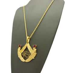 18k Gold Plated Eye Of Anubis Medallion