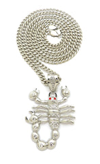 14K Iced Out Scorpion Necklace