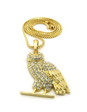 14k Gold Plated OVO Owl On a 24inch Box Chain.