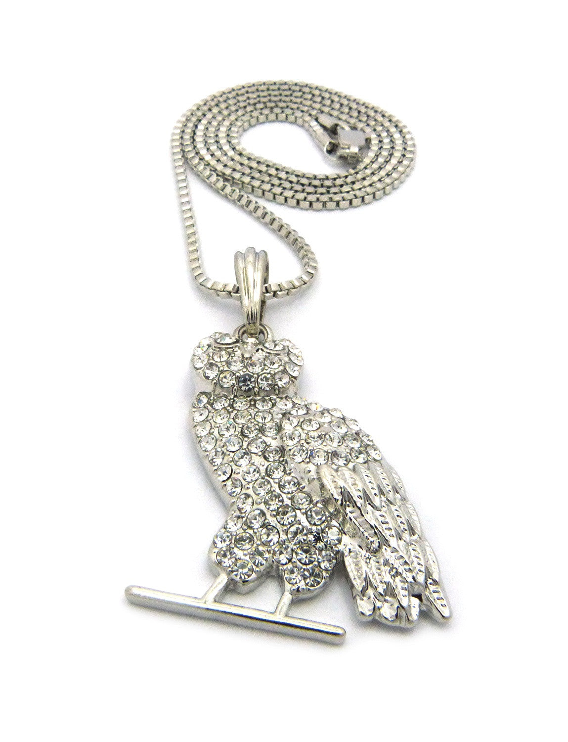 Silver Plated OVO Owl. On 24inch Box Chain