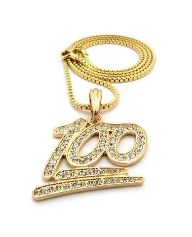Iced Out Gold Plated Keep It 100 Pendant