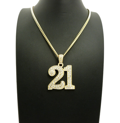 14k Gold Plated Iced Out 21 Savage Piece